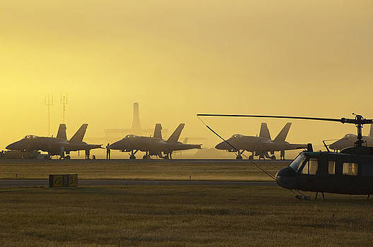 Early morning at the air show by Sheri Heckenlaible