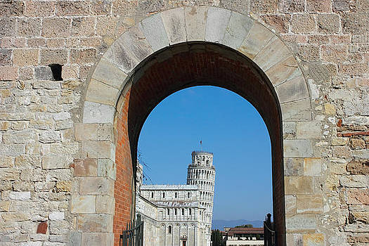 Entrance to piazza dei miracoli in Pisa by Kiril Stanchev