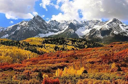 Fall Colors Sneffels Range Colorado by Steve Barge