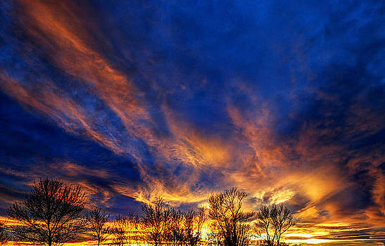 Fire in the sky by Steve Barge