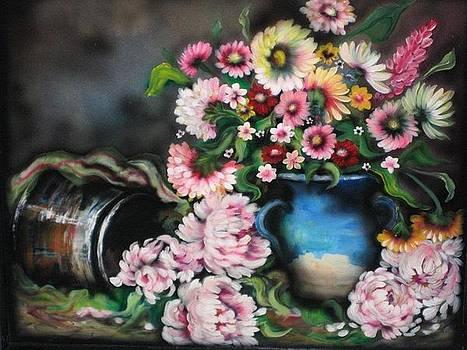 Flowers and Vase by Kendra Sorum