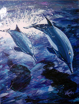 Flying Dolphins by Jill Roberts