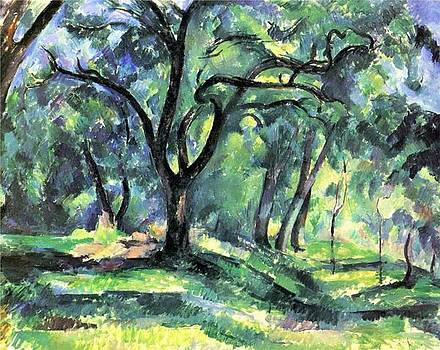 Forest by Paul Cezanne