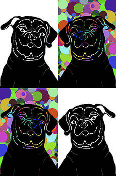 Four Pugs by Chris Goulette