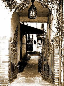 Gated Seclusion in Sepia by Michelle Wiltz