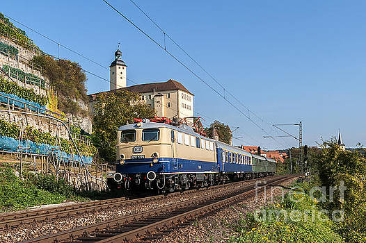 German E-loco E10 1239 with express train by Christian Spiller