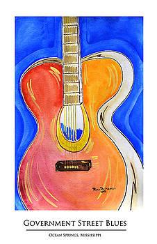 Government Street Blues Print by Ryan D Merrill