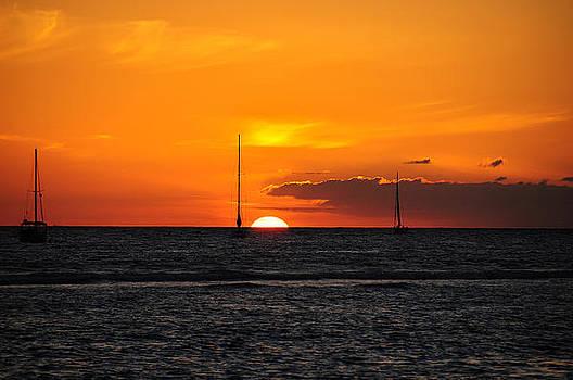 Hawaii Coast Sunset by Greg Thelen