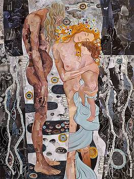 Homage to Klimt's Three Ages of Woman by Sheri Howe
