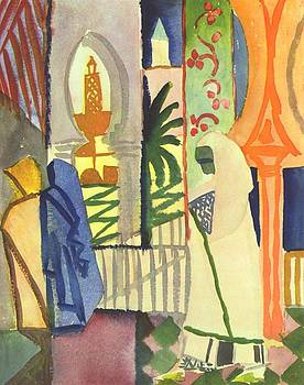 In The Temple Hall by August Macke