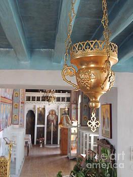 Inside orthodox church by Paraskevas Momos
