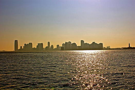 Jersey City from NYC by Felix Zapata