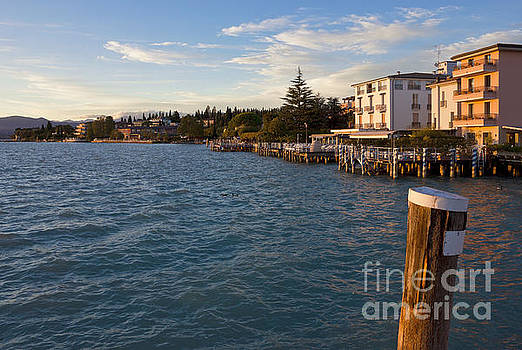 Jetty Port and Waterfront in Sirmione by Kiril Stanchev