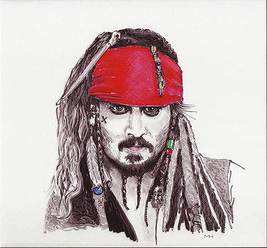 Johnny Depp as Jack Sparrow by Martin Howard