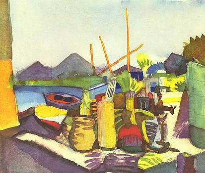 Landscape Near Hammamet by August Macke