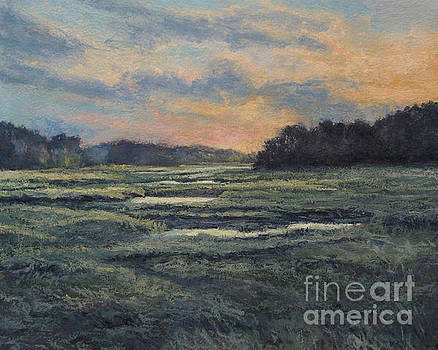 Last Light on the Marsh - Wellfleet by Gregory Arnett