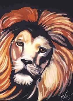 Lion Portrait by Christopher Fresquez