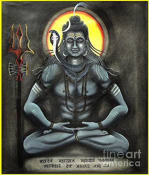 Lord Shiva in meditation by Ravi Kumar