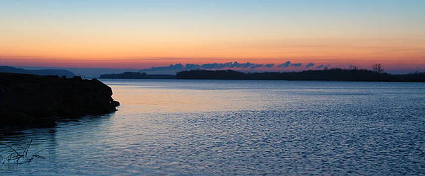 Mississippi River Sunrise by David Yunker