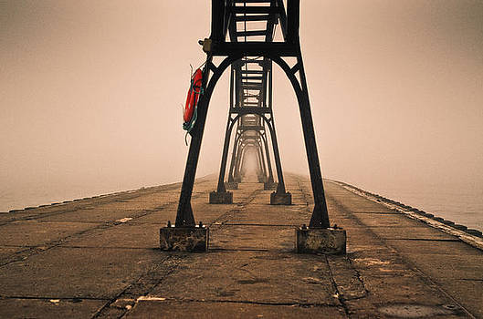 Misty Pier by Jason Naudi Photography