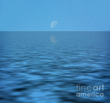 Moon over water by Cheryl Casey