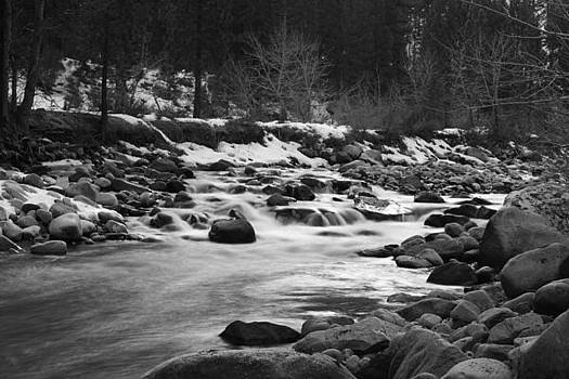 Mountain Stream in Winter by Greg Thelen