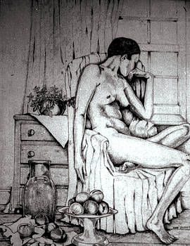 Nude with fruit by Anne Dalton