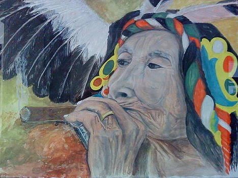 Old Indian woman by Gani Banacia