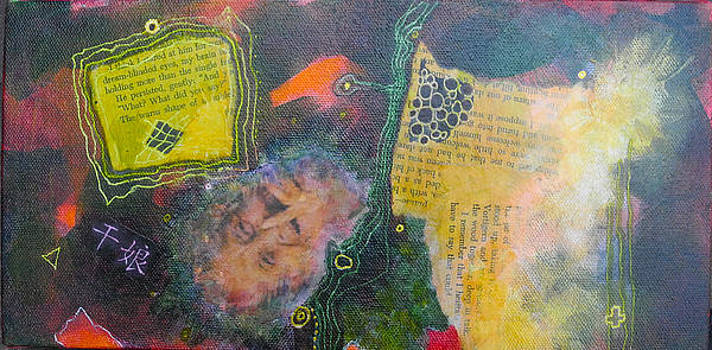 Old women Series  diptych B  top by Elizabeth Falconer