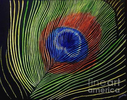 Peacock Feather by Jennifer Jeffris