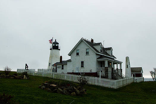 Pemaquid Lighthouse in the Rain by Kaye Seaboch