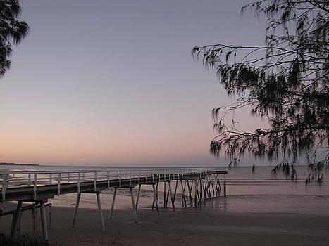 Pier at sunset by Elizabeth Hardie