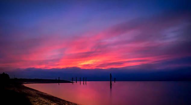 Pink Sunset by Eva Kondzialkiewicz