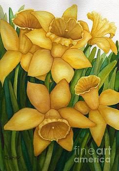 Playful Daffodils by Vikki Wicks