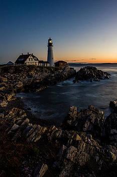 Portland Head Lighthouse at Sunrise by Kaye Seaboch