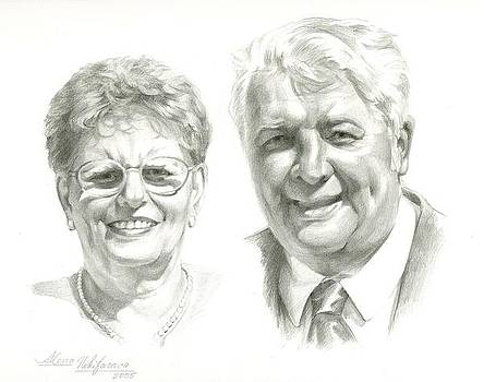 Portrait of couple. Commission. by Alena Nikifarava