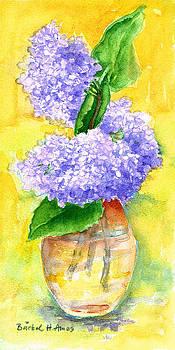 Purple Flowers by Barbel Amos