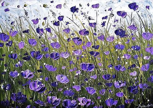 Purple Poppifield by Jolina Anthony