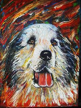 Pyrenean Mountain Dog by Anastasis  Anastasi