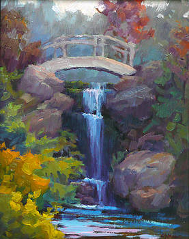 Quarry Hills Waterfall by Carol Smith Myer
