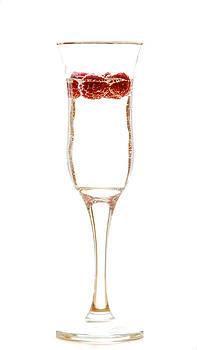 Raspberry in a glass by Maurizio Incurvati