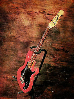 Red Guitar by Suzanne Barber