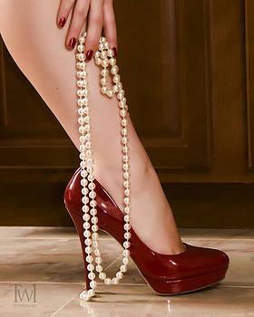 Red Heels by Cindy Bauman