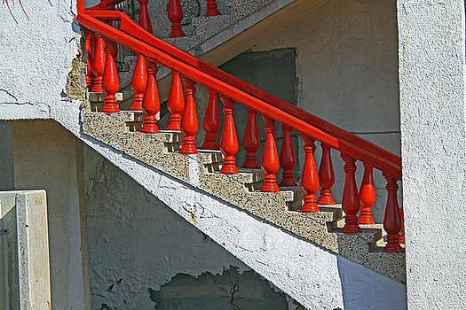 red stairs- Israel by Karl Gebhardt