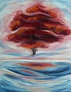 Red Tree by S Aili