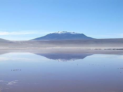 Reflected mountains by Elizabeth Hardie