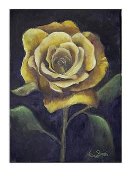 Royal Gold Bloom by Nancy Edwards