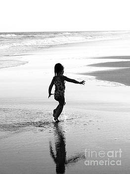 Running on the Beach by Jaclyn Burns