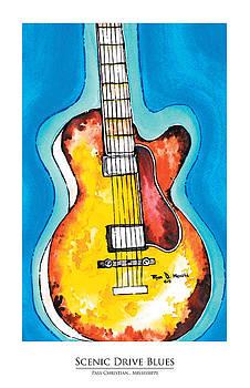 Scenic Drive Blues Print by Ryan D Merrill