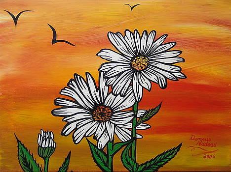Shasta Daisys by Dennis Nadeau